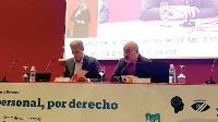 Luis Cayo Pérez Bueno, presidente del CERMI, durante su participación en el tercer Congreso Internacional de Asistencia Personal organizado por Predif