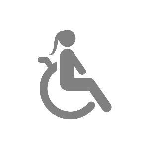 Ilustración de una niña en silla de ruedas
