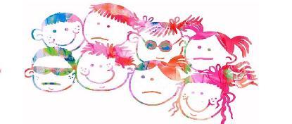 Ilustración de niños sonriendo.