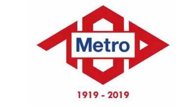 Logo centenario de Metro.