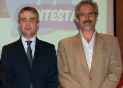 Miguel Ángel De Casas, presidente de la Confederación Autismo España Y Pedro Ugarte, presidente de Fespau