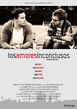 cartelera del largometraje 'Amores inconclusos'