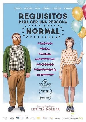 cartelera de la película 'Requisitos para ser una persona normal'