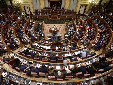 Imagen del Congreso de los Diputados tras la Sesión Constitutiva de la 14 Legislatura del Congreso
