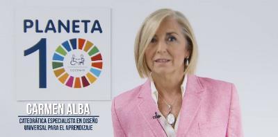 Carmen Alba, embajadora del ODS 4.