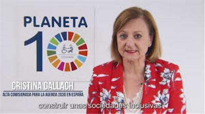 Gallach, embajadora del ODS 10.