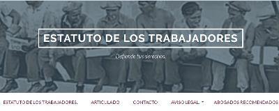 Imagen de la web del Estatuto de los Trabajadores