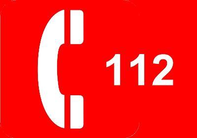 Imagen de un teléfono y el número 112
