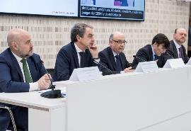 El exministro Cristóbal Montoro en la presentación de la nueva ley de contratos del sector público