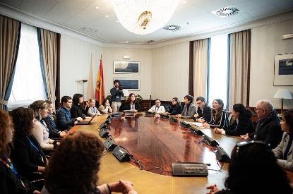 Imagen de la reunión de Ciudadanos con CERMI, CERMI Mujeres y otros representantes del sector de la discapacidad