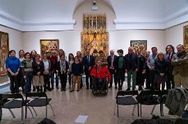 foto de familia en la entrega del 'Premio cermi.es 2019', en la categoría Accesibilidad Universal-Fundación Vodafone España, al Museo Nacional del Prado