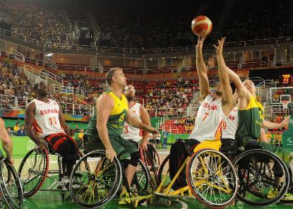 Imagen del partido de los Juegos Paralímpicos de Río entre España y Australia.