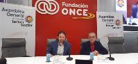 El vicepresidente de Derechos Sociales y Agenda 2030 del Gobierno, Pablo Iglesias, junto a Luciano Poyato, reelegido presidente de la Plataforma del Tercer Sector