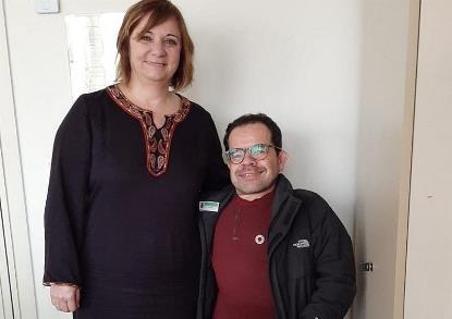 Jesús Martín, delegado del CERMI para los Derechos Humanos y para la Convención de la ONU, con Patricia Abascal, Portavoz de Discapacidad del GPS en el Senado