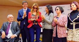 Mercedes López en el momento de recibir el 'Premio cermi.es 2019' en la categoría Fundación CERMI Mujeres-Acción en Beneficio de las Mujeres con Discapacidad