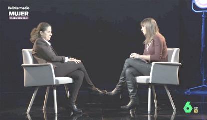 Ana Peláez durante la entrevista en El intermedio