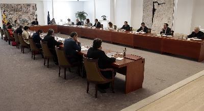 Imagen del consejo de ministros extraordinario celebrado el 14 de marzo de 2020