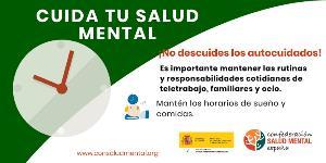 Imagen de Salud Mental España que invita a no descuidar los autocuidados