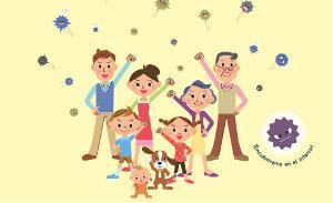 Ilustración de Feder animando a luchar contra el coronavirus