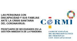 Las personas con discapacidad y sus familias ante la crisis sanitaria del coronavirus: Prontuario de necesidades en la gestión inmediata de la pandemia