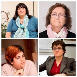 Imagen de las cuatro mujeres que participaron en la reunión telemática con los Reyes