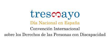 Logotipo del 3 de mayo, Día Nacional de la Convención de la ONU sobre los Derechos de las Personas con Discapacidad