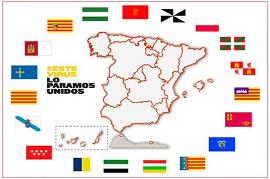 Mapa de España por comunidades, con el lema 'Este virus lo paramos unidos'