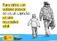 Ilustración del Gobierno de España sobre los paseos terapéuticos