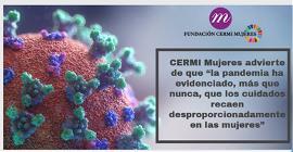"""CERMI Mujeres advierte de que """"la pandemia ha evidenciado, más que nunca, que los cuidados recaen desproporcionadamente en las mujeres"""""""