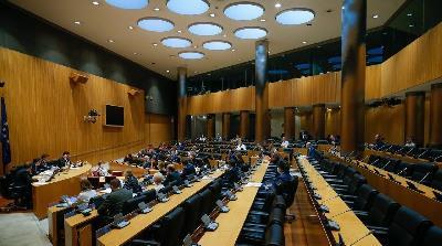 Imagen durante una sesión de la Comisión de Reconstrucción Social y Económica del Congreso de los Diputados celebrada el 13 de mayo