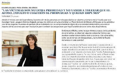 Imagen de la entrevista a la fiscal general del Estado en el semanal del CERMI