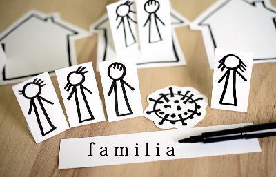 Ilustración sobre las familias en tiempos de coronavirus