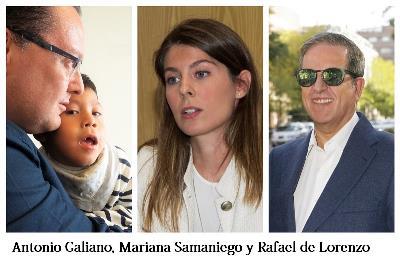 Antonio Galiano, Mariana Samaniego y Rafael de Lorenzo, autores de este artículo
