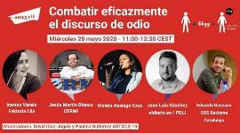 Cartel con la convocatoria del encuentro virtual 'Combatir eficazmente el discurso de odio'