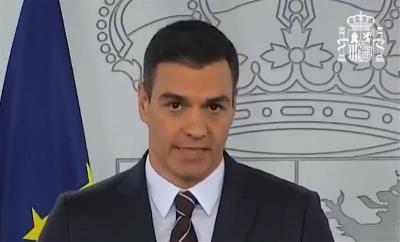 El presidente del Gobierno, Pedro Sánchez, en una comparecencia sobre el fondo extraordinario no reembolsable de 16.000 millones para que las comunidades y ciudades autónomas