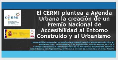 El CERMI plantea a Agenda Urbana la creación de un Premio Nacional de Accesibilidad al Entorno Construido y al Urbanismo