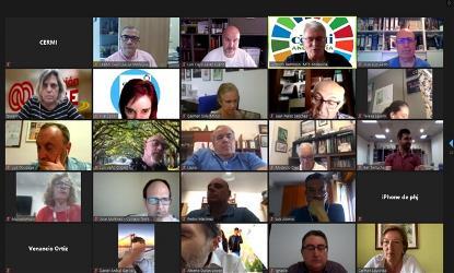 Imagen de la reunión telemática mantenida entre el CERMI Estatal y los CERMIS Autonómicos