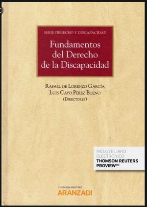 Portada del libro Fundamentos del Derecho de la Discapacidad.