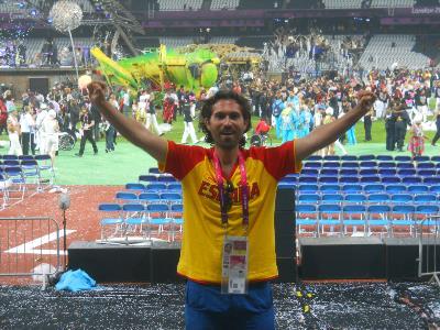 Mario García, en los Juegos.