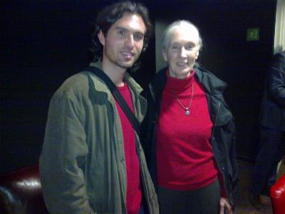 Mario García, con Jane Goodall