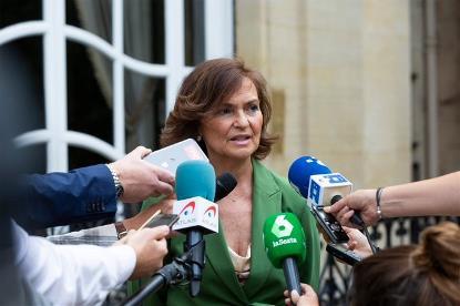 Carmen Calvo, vicepresidenta primera del Gobierno y ministra de Presidencia y Memoria Democrática