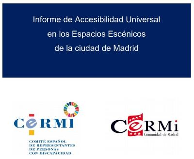 Portada del Informe de Accesibilidad Universal en los Espacios Escénicos de la ciudad de Madrid