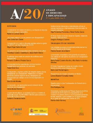 Portada de 'Anales de Derecho y Discapacidad 2020. Volumen V'