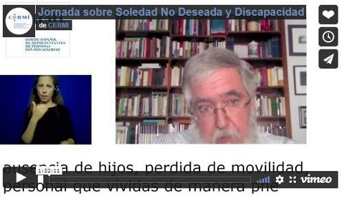 Jornada sobre Soledad no Deseada y Discapacidad.