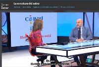 El presidente del CERMI, durante la entrevista en RTVE.