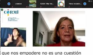 Cristina Rodríguez Porrero, representante de la Unión Democrática de Pensionistas y Jubilados de España (UDP)