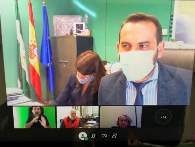 Captura de imagen de la reunión mantenida por la Mesa de Trabajo.