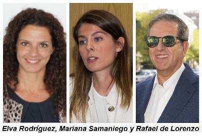 Elva Rodríguez, Mariana Samaniego y Rafael de Lorenzo