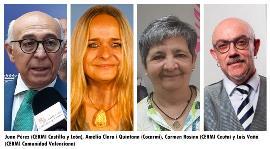 Juan Pérez, presidente de CERMI CyL, Amèlia Clara i Quintana, vicepresidenta de Cocarmi, Carmen Rosino, vicepresidenta de CERMI Ceuta y Luis Vañó, presidente de CERMI CV