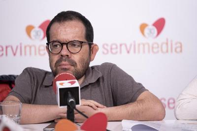 Jesús Martín, durante una entrevista.